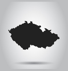 czech republic map black icon on white background vector image