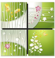 Eco green concept summer card vector image