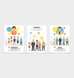 flat people generation posters vector image