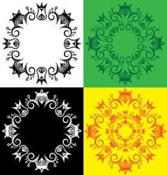 Geometric decorative royal symbolic ornate pattern vector