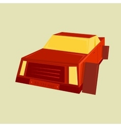 Geometric minimal of a car vector image