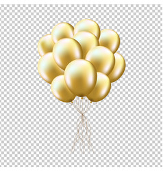 Golden balloons sheaf vector