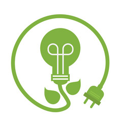 green eco power lightbulb image vector image