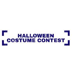 Grunge textured halloween costume contest stamp vector