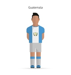 Guatemala football player Soccer uniform vector