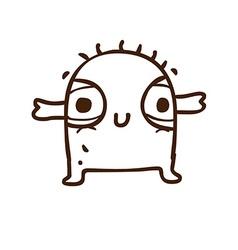 Hand drawn cute creature vector