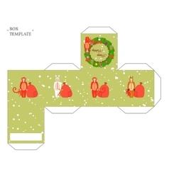 Holiday box template vector