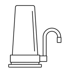 House filter tap icon outline style vector
