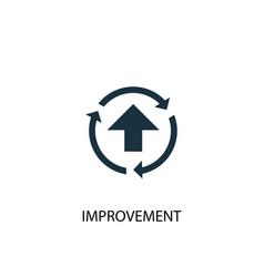 Improvement icon simple element vector