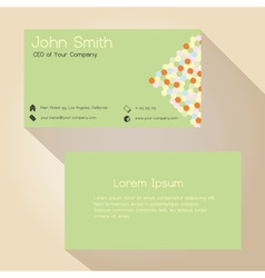 Light green and hexagon simple business card vector