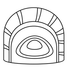 Maguro tai sushi icon outline style vector
