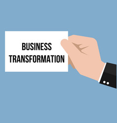 man showing paper business transformation text vector image