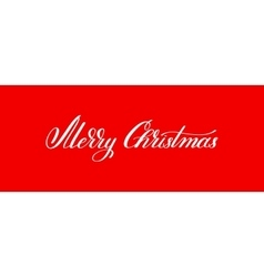 Merry christmas handwritten lettering text vector