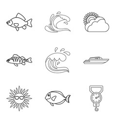 Moisture meter icons set outline style vector