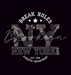 New york brooklyn t-shirt design with slogan vector