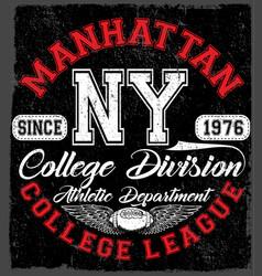New york sport wear typography emblem american vector