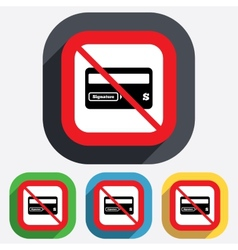 No credit card sign icon debit card symbol vector