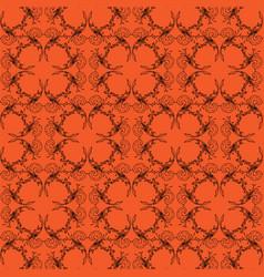 orange black halloween scroll background pattern vector image