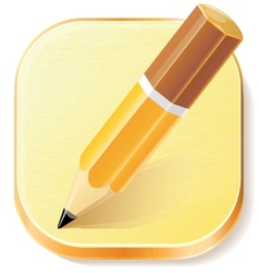 Pencil icon on textured plane vector image