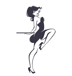pinup girl vector image
