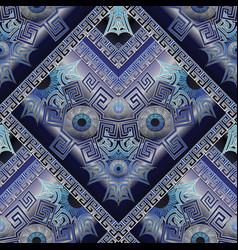 Protection amulet seamless pattern nazar devil vector