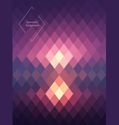 Purple pink geometric abstrackt background vector