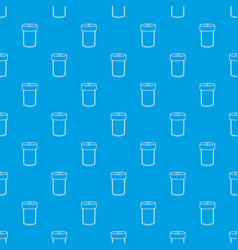 salt shaker pattern seamless blue vector image