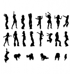silhoutte vector image