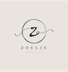 simple elegant initial letter type z logo sign vector image
