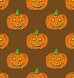 Sketch carved pumpkin in vintage style vector image