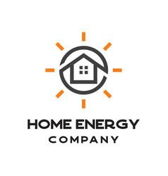 solar home energy logo vector image