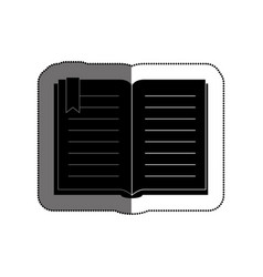 text book library isolated icon vector image
