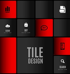 Tile Design vector image