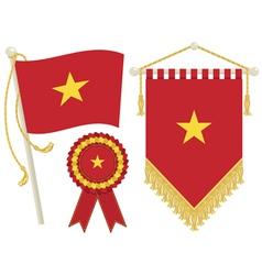 Vietnam flags vector