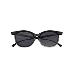 Vintage clubmaster sunglasses black lenses and vector