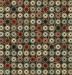 vintage flowers seamless vector image