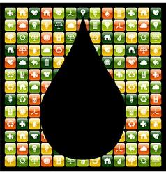 Water drop green phone apps vector image vector image