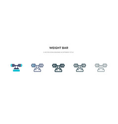 Weight bar icon in different style two colored vector