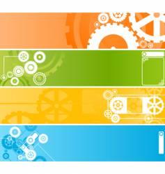 Wheel banner vector