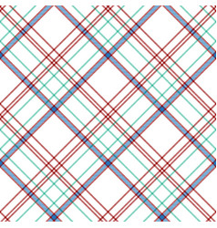 white check plaid fabric texture seamless pattern vector image
