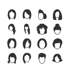 Woman icons set vector image