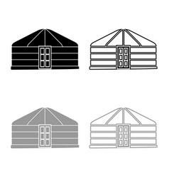 Yurt nomads portable frame dwelling with door vector
