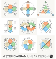 Circle Triangle Arrows Linear line design elements vector image vector image
