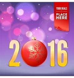 Greeting card for New Year vector image