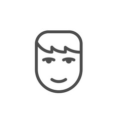 human face line icon vector image