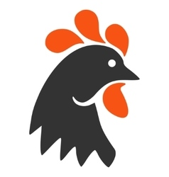 Rooster Head Flat Icon vector image