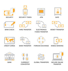 business finance icons set vector image vector image