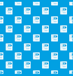 law book pattern seamless blue vector image vector image
