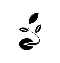seeds - grow plant icon vector image