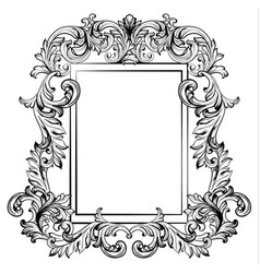 baroque frame mirror decor for invitation wedding vector image